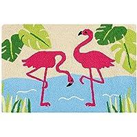 Summertime 22 x 34 Hooked Rug - Flamingos