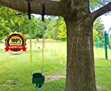 Tree Swing Hanging Kit Holds 1200lbs, Easy & Fast Swing Hanger Installation to Tree- 2 Strap & Snap Carabiner Hook, Perfect For Swings, Hammocks & Anything Else You Can Imagine - 100% Waterproof