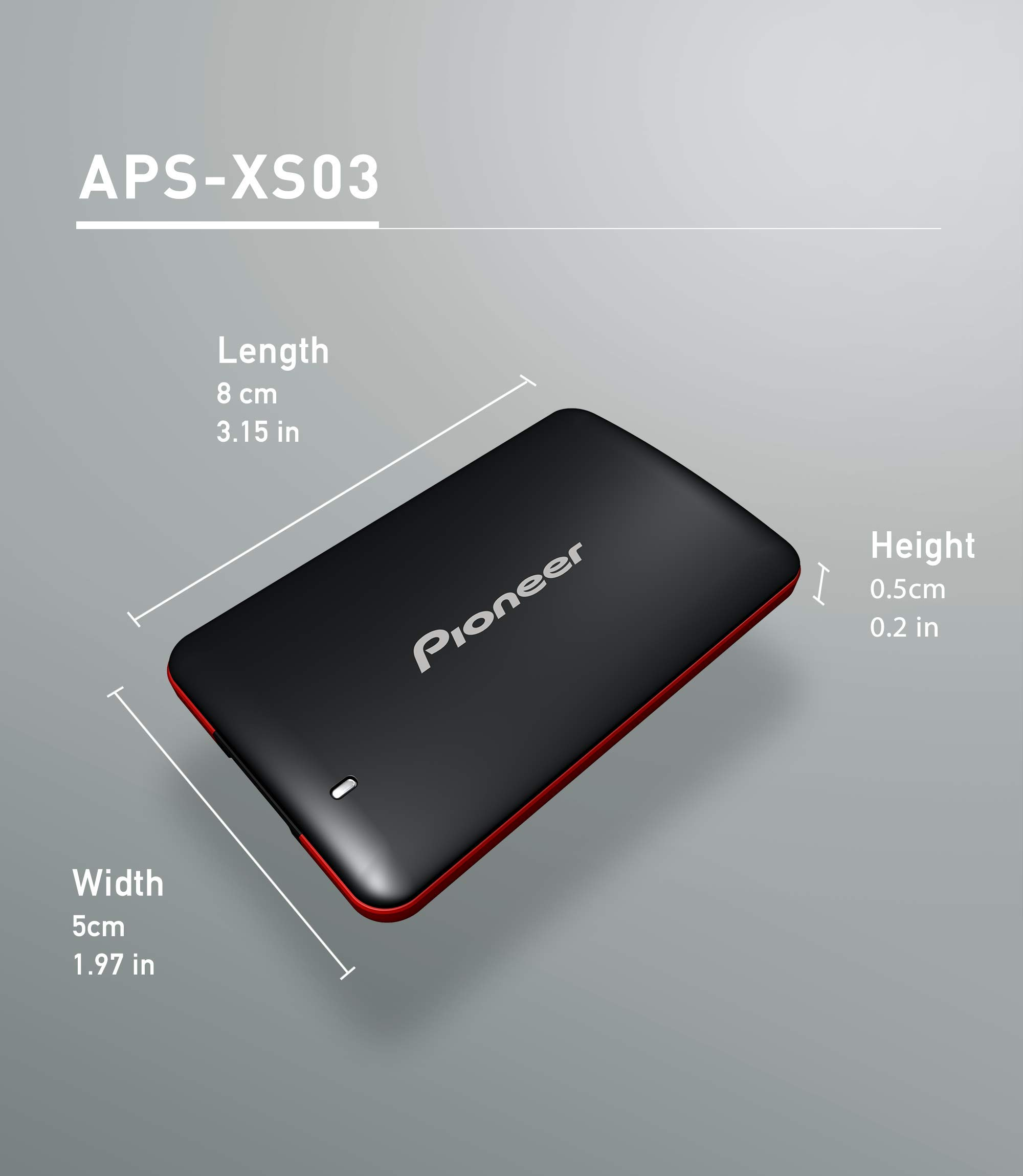 Pioneer 3D NAND External SSD(240 GB)-Portable Solid State Drive USB 3.1 Gen 1 (APS-XS03-240) by P (Image #3)