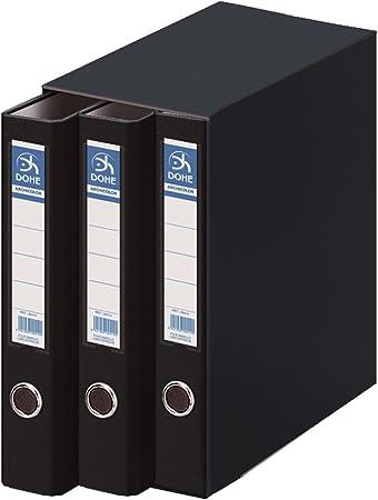 Dohe Archicolor - Módulo 3 archivadores A4, color negro: Amazon.es ...
