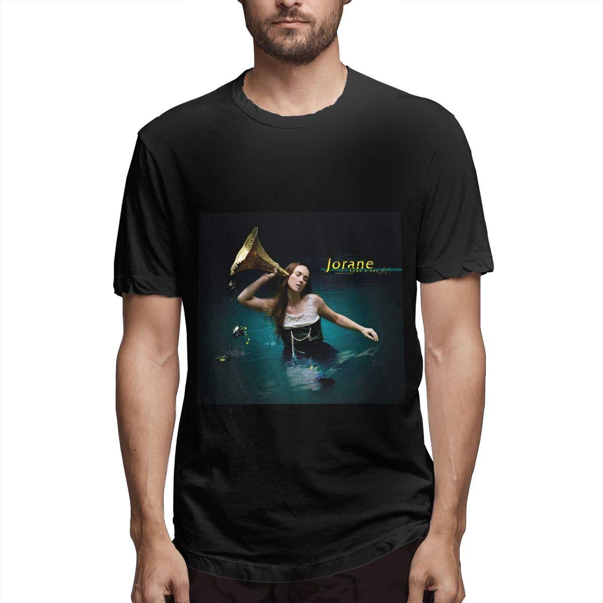 Lihehen Mans Jorane Retro Printing Round Neck Tees Shirts