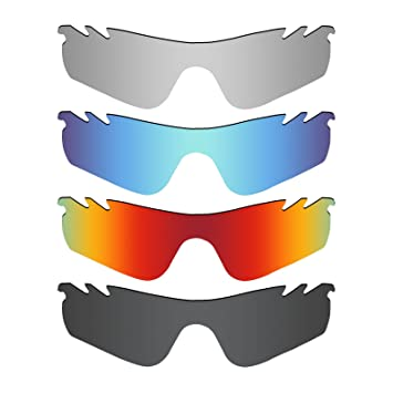 74d040d2301 MRY 4 Pairs POLARIZED Replacement Lenses for Oakley RadarLock Path Vented  Sunglasses-Stealth Black