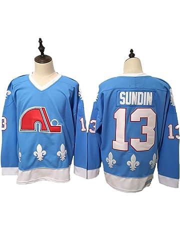 ananjin Maillot de Hockey Hommes Bleu//Strip S-XXXL
