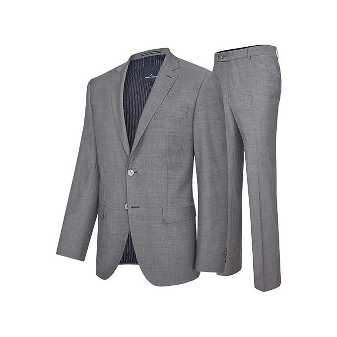 Daniel Hechter Modern Fit Herren Baukasten Anzug in grau