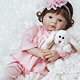 Paradise Galleries Reborn Baby Doll That Looks Real Bunny Love in FlexTouch Silicone Vinyl, 21 inch Girl, 6-Piece Set