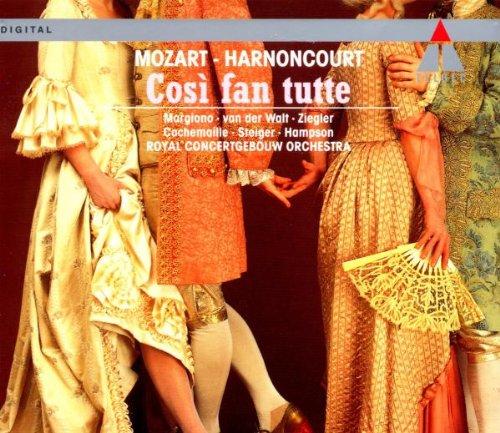 Mozart - Così fan tutte / Margiono · Ziegler · Steiger · van der Walt · Cachemaille · Hampson · Harnoncourt