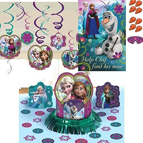 Frozen Party Pack Decoration Swirls