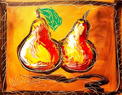 PEARS Abstract Impressionist Art Deco Cityscape Art - Oil Painting on Canvas- Signed with Certificate of Authenticity-size 20 X 24, Fine Arts, Stretched - Gallery Wrap - Ready to Display