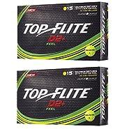 2pk Top Flite D2+ Feel Golf Balls - Yellow - 30 Balls