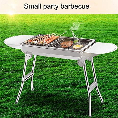 HEHAOYUAN Gril à Charbon élégant Gril à Charbon De Table en Acier Inoxydable Pliable, Barbecue Amovible pour 3 à 5 Personnes pour Le Camping en Plein Air avec Barbecue De Jardin