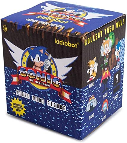 Amazon Com One Blind Box Sonic The Hedgehog Mini Series Vinyl Figure By Sega X Kidrobot Toys Games