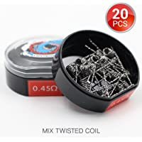 20 PCS Vapethink Mix Twisted Coil Bobina