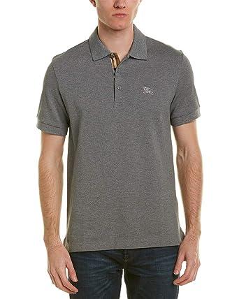 2379d50b BURBERRY Men Polo t-Shirt Hartford Grigio XL at Amazon Men's Clothing store: