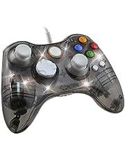 Mando Con Cable Afterglow Con Xbox 360,Ignatv Mando con DualShock y 7 LED Con XBOX 360/PC/Windows XP/7/8/8.1/10/Vista-Transparente negro