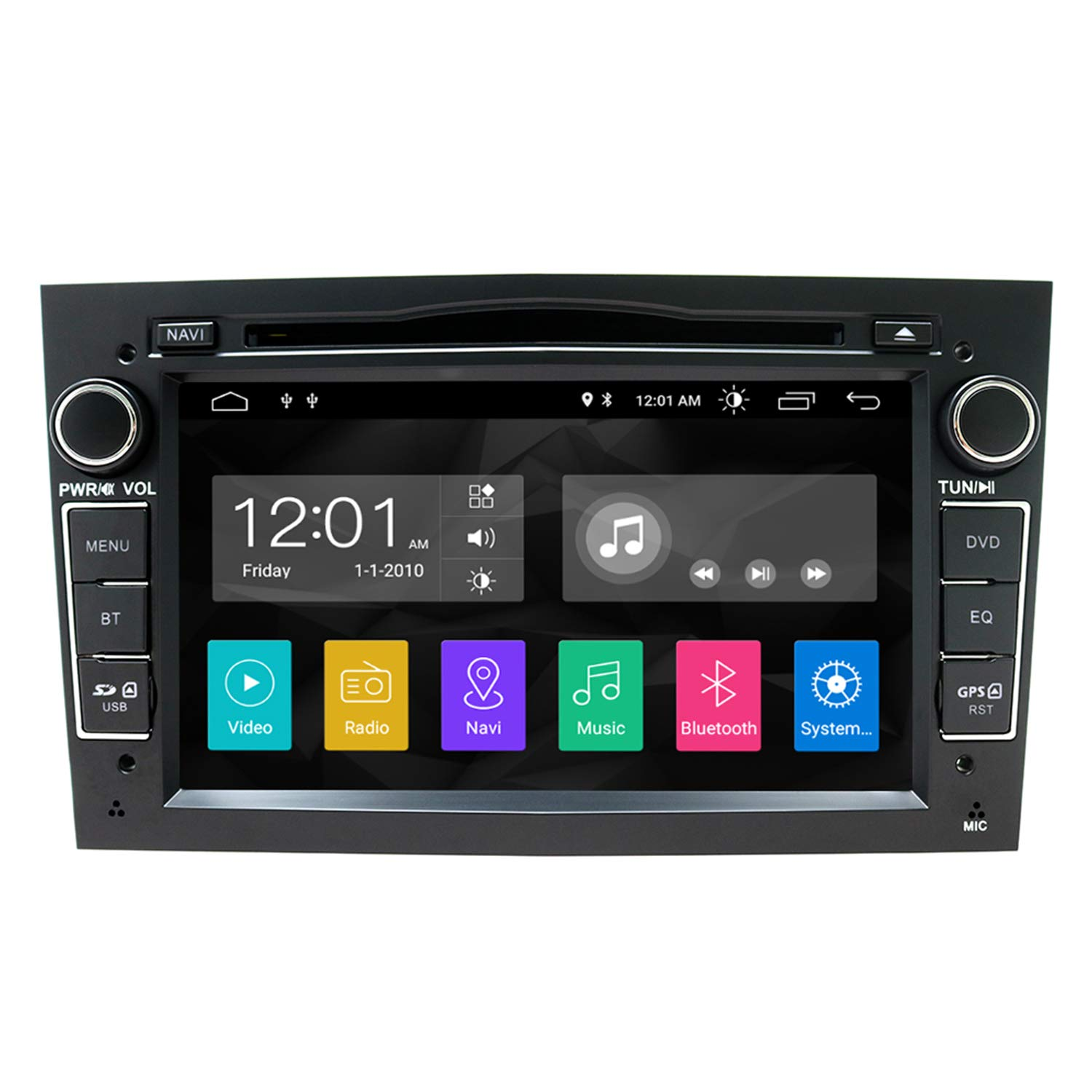 SWTNVIN Android 10.0 Car Audio Stereo Headunit Fits for Opel Vauxhall DVD Player Radio 7 Inch IPS HD Touch Screen GPS Navigation with Bluetooth WIFI Steering Wheel Control 2GB+16GB (Black)