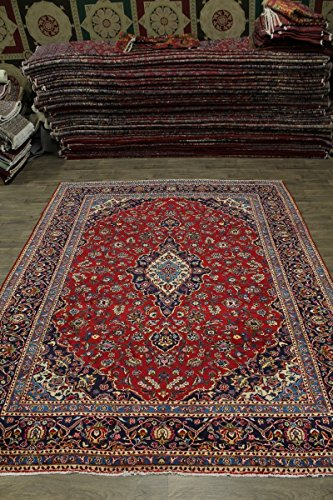 - Traditional S Antique Handmade Red Kashan Persian Style Area Rug Oriental Carpet 10X13
