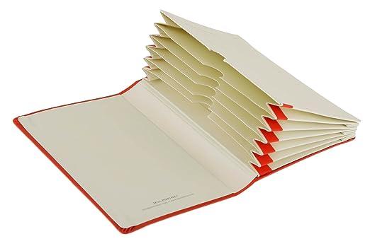 Moleskine Organizer Notizbücher  / Fächerbuch / Pocket / Fester Einband / Rot