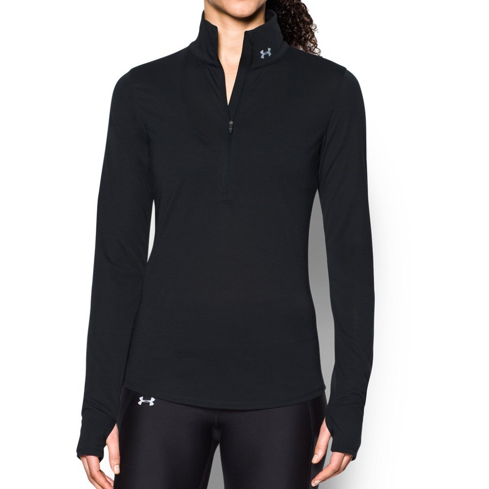 Under Armour Women's Streaker 1/2 Zip, Black/Reflective, X-Small by Under Armour