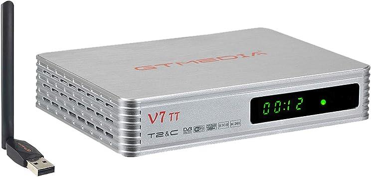Todo para el streamer: GTMEDIA V7 TT Decodificador TDT HD DVB-T/T2 Decodificador de TV por Terrestre Receptor de TV por Cable con Antena WiFi Soporte USB PV/1080P/ H.265 Youtube/ Multi PLP