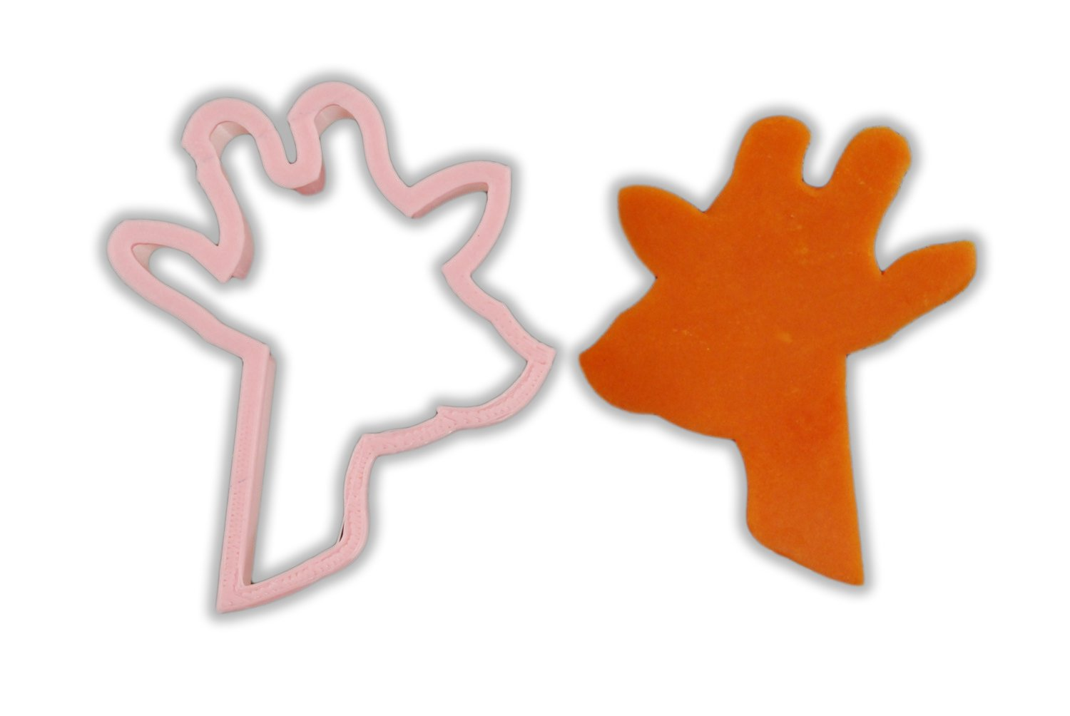 Giraffe Head Animal Cookie Cutter - LARGE - 4 Inches