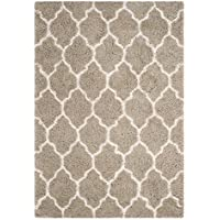 Safavieh Toronto Shag Collection SGT602C Silver and Ivory Runner (23 x 8)