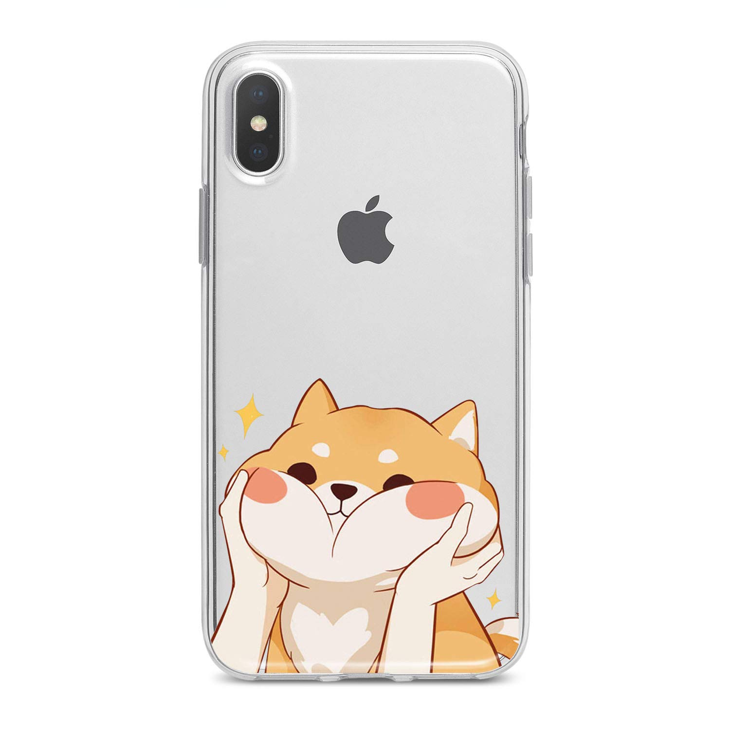 Lex Altern Case for iPhone X 8 Plus 7 6s 6 SE 5s 5 TPU Clear Kawaii Apple Cute Phone Shiba Inu Cover Adorable Print Protective Light Weight Doggy Women Soft Silicone Transparent Flexible Teen Girls