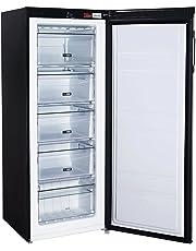 Russell Hobbs Freestanding 142cm Tall Freezer, A+ Rating, 157 Litre Net Capacity, Black, Reversible Door, RH55FZ142B