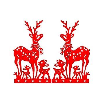 Hacoly Wandtattoo Wohnzimmer Weihnachten Wandsticker Glasfenster