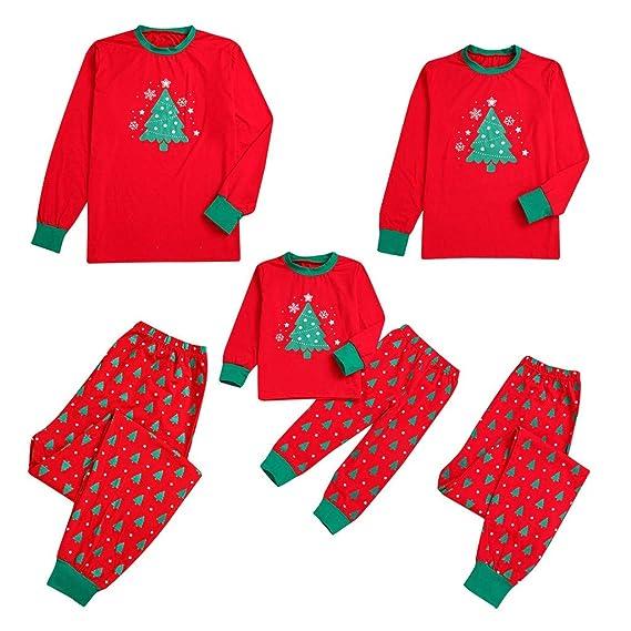 Fossen Kids Pijamas Navideños Familiares Impresión de Arbol de ...