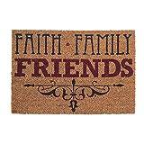 Faith Family Friends 16 x 24 Coconut Fibre Home Doormat