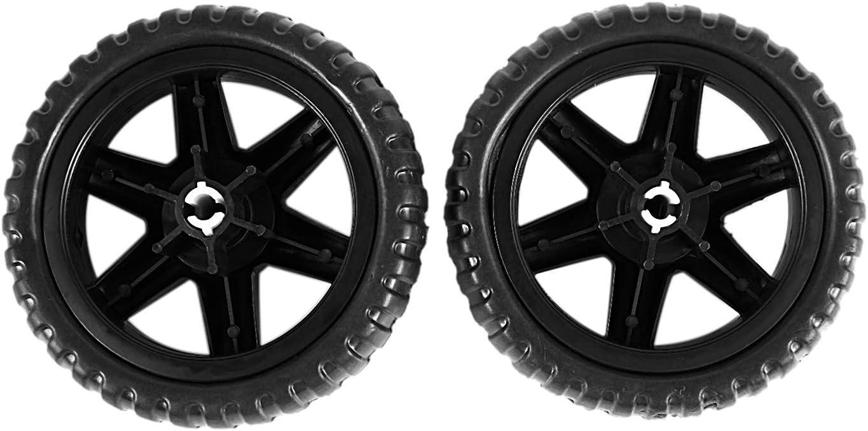 2 pieces Noir Vaorwne Caoutchouc roues chaudes Chariot a bagages