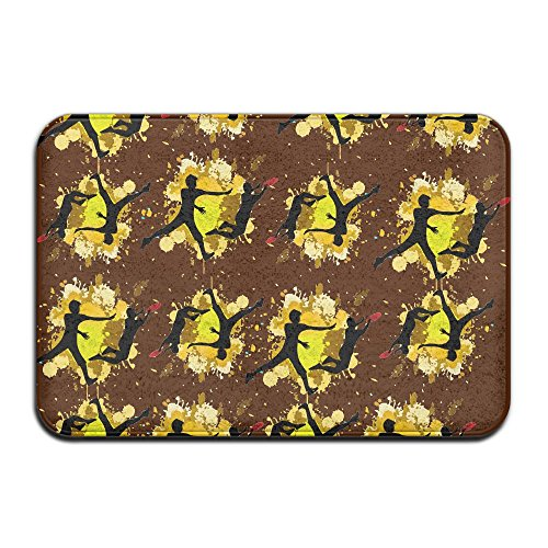 Frisbee Player (Frisbee Player Funny Soft Indoor Mat Entryways Home Doormat)