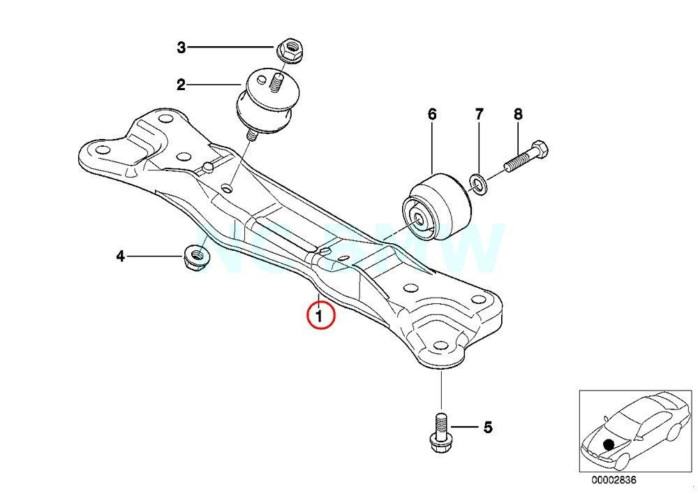 Amazon Com Bmw Genuine Gearbox Support Automotive