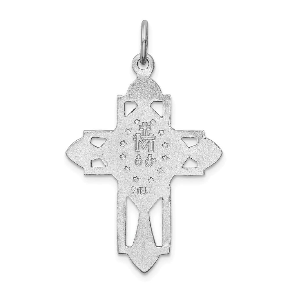 FB Jewels Sterling Silver Antiqued Miraculous Medal