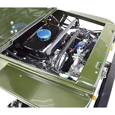 Jeep infantil de 125 cc, de 2 plazas con amortiguadores, de color verde, sin montaje, se envía en caja: Amazon.es: Coche y moto