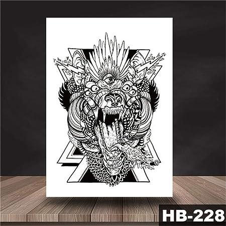 tzxdbh 5PCs-Etiqueta engomada del Tatuaje a Prueba de Agua Dragón ...