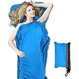 StillCool Saco de dormir,fácil de llevar y limpiar,sábana con cierre,funda de viaje,para viaje y camping de verano(color azul)