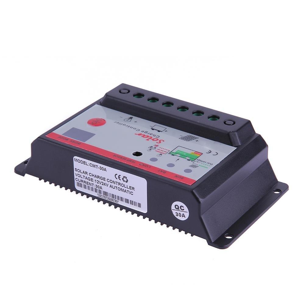 Matefield 12V 24V Solar Panel Battery Charge Controller Lamp Regulator Timer(30A)