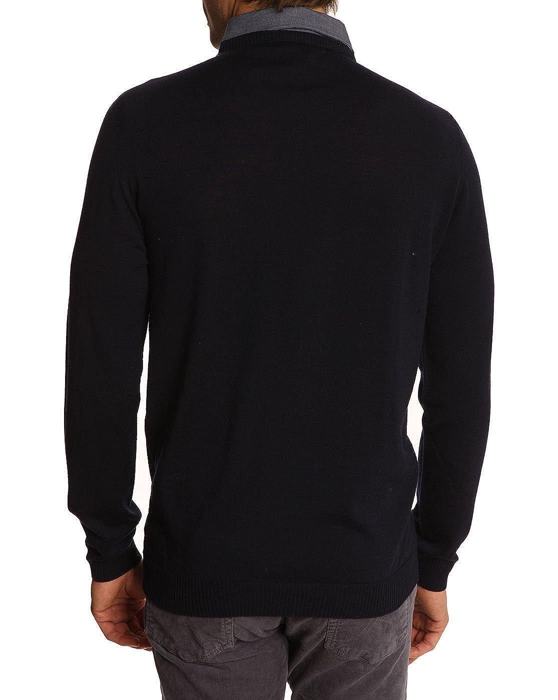 f348e2568d11d Paul And Joe - Pull - Homme - Pull noir trompe l'œil col chemise bleu Dogon  pour homme - XL: Amazon.fr: Vêtements et accessoires