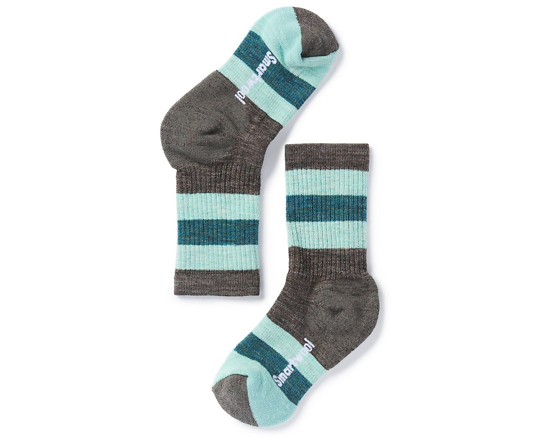 Smartwool Kids' Hike Crew Sock - Merino Wool Medium Cushion Striped Sock for Boys and Girls by Smartwool
