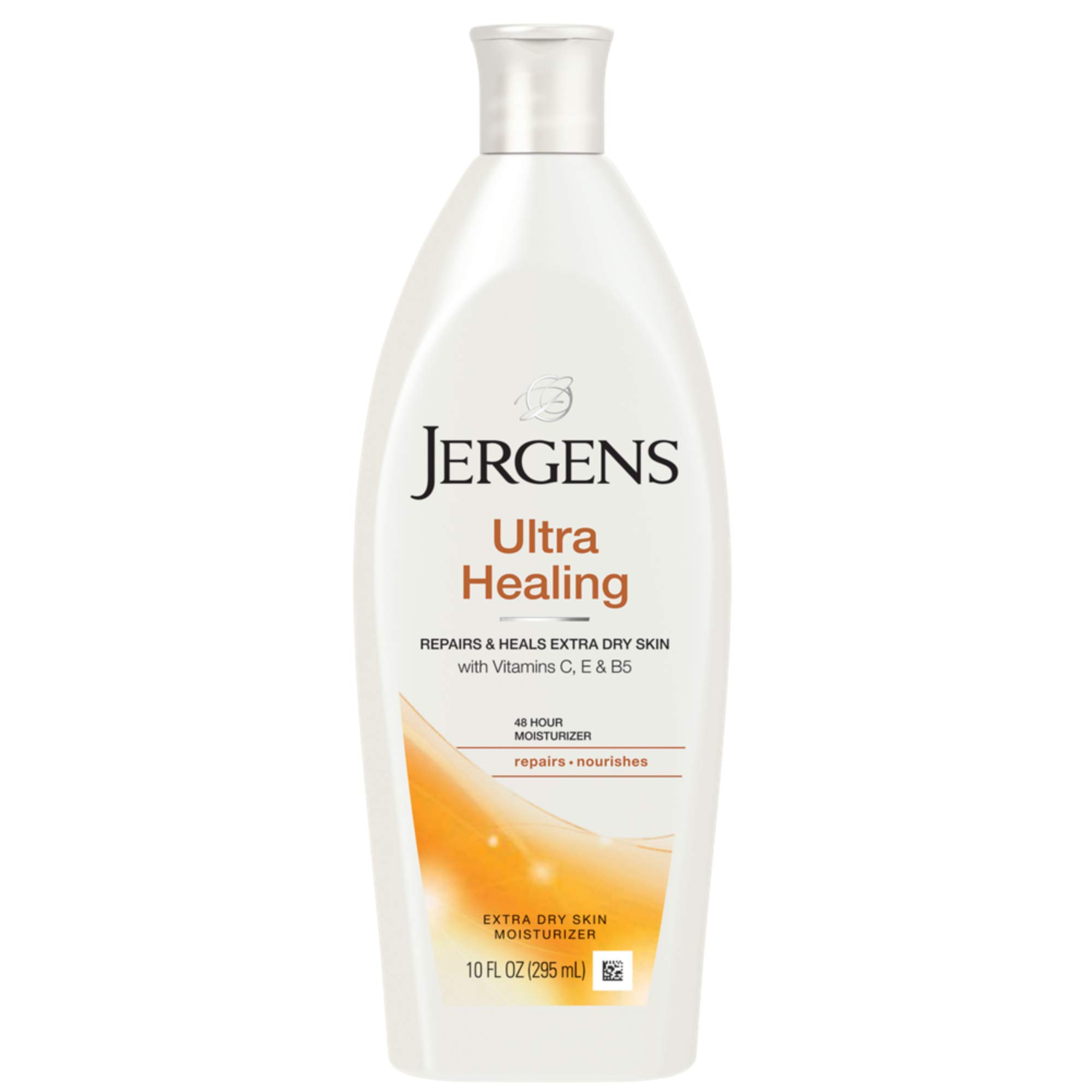 Jergens Ultra Healing Dry Skin Moisturizer, Body and Hand Lotion, for Absorption into Extra Dry Skin, 10 Ounce, with HYDRALUCENCE blend, Vitamins C, E, and B5