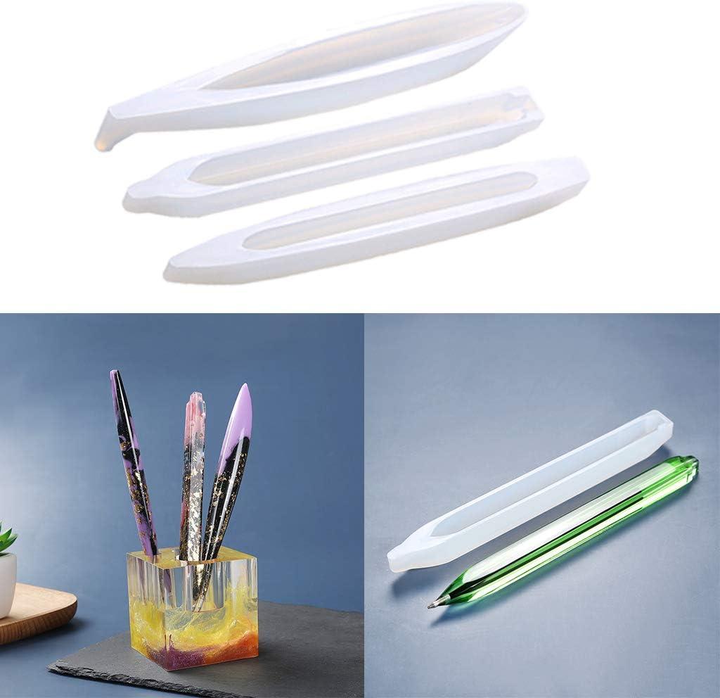 Sharplace Bol/ígrafo Molde de Resina epoxi UV Soporte para bol/ígrafo Molde de Silicona DIY Art Craft