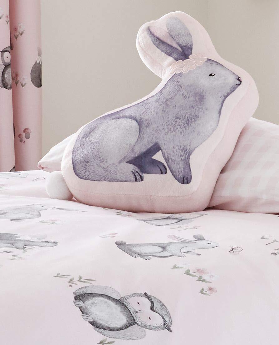 Catherine Lansfield Woodland Friends Shaped Cushion 40x60cm Pink Turner Bianca BD/49204/W/3DCU/PK