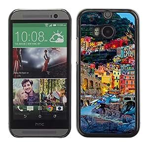 iKiki-Tech Estuche rígido para HTC One M8 - Town In Italy