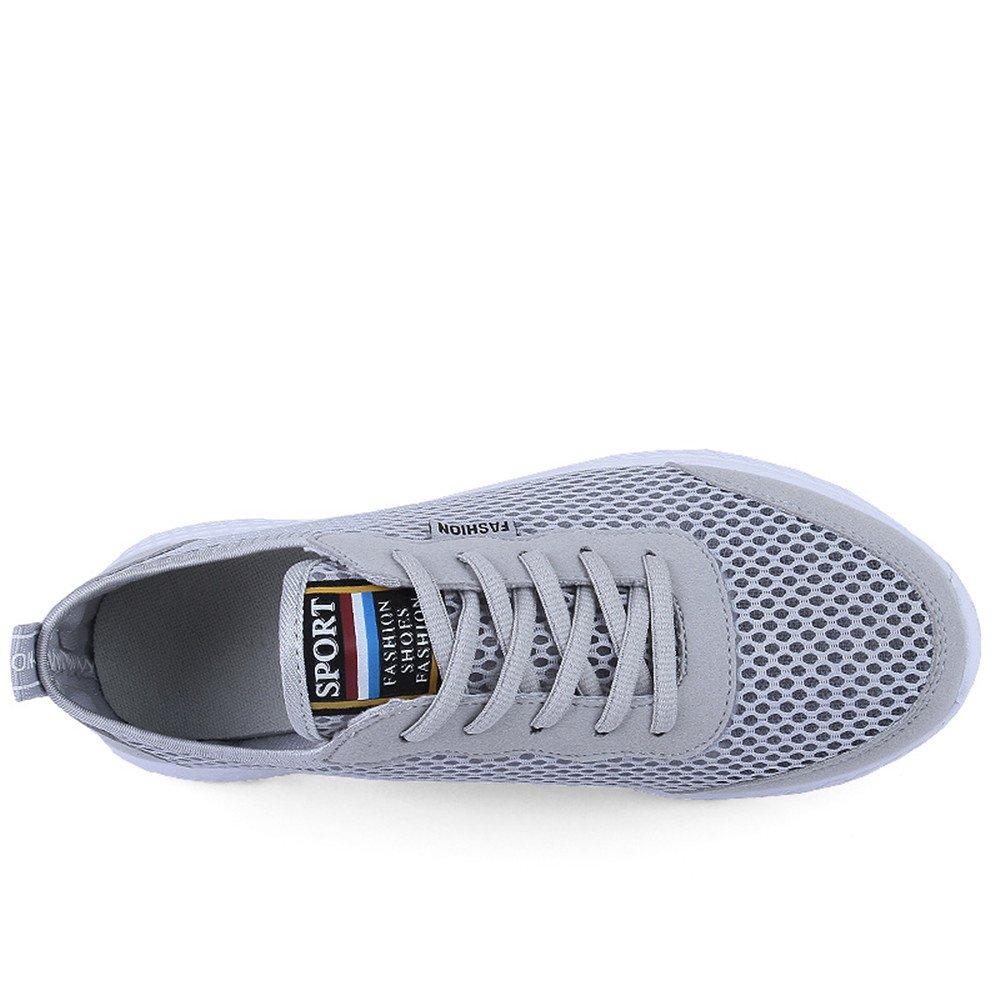 Leichte athletische Laufschuhe der Männer Frauen Breathable Maschen (Farbe obere gehende Liebhaber Turnschuhe (Farbe Maschen : Grau, Größe : 47 EU) a001d6