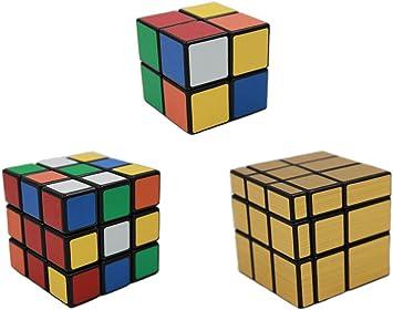 MEISHINE® 3 Pack Mágico Cubo 2x2x2 3x3x3 Cubo Mágico, Mirror Cube ...