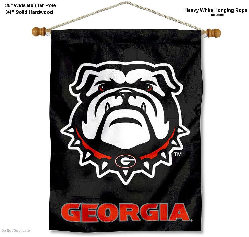 Georgia Bulldogs New Dawg Banner with Hanging Pole