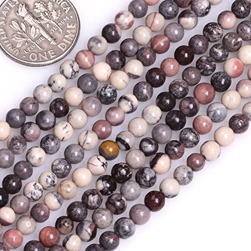 Jasper Porcelain Necklace (GEM-inside Natural 4mm Mixed Color Round Porcelain Jasper Beads for Jewelry Making Strand 15