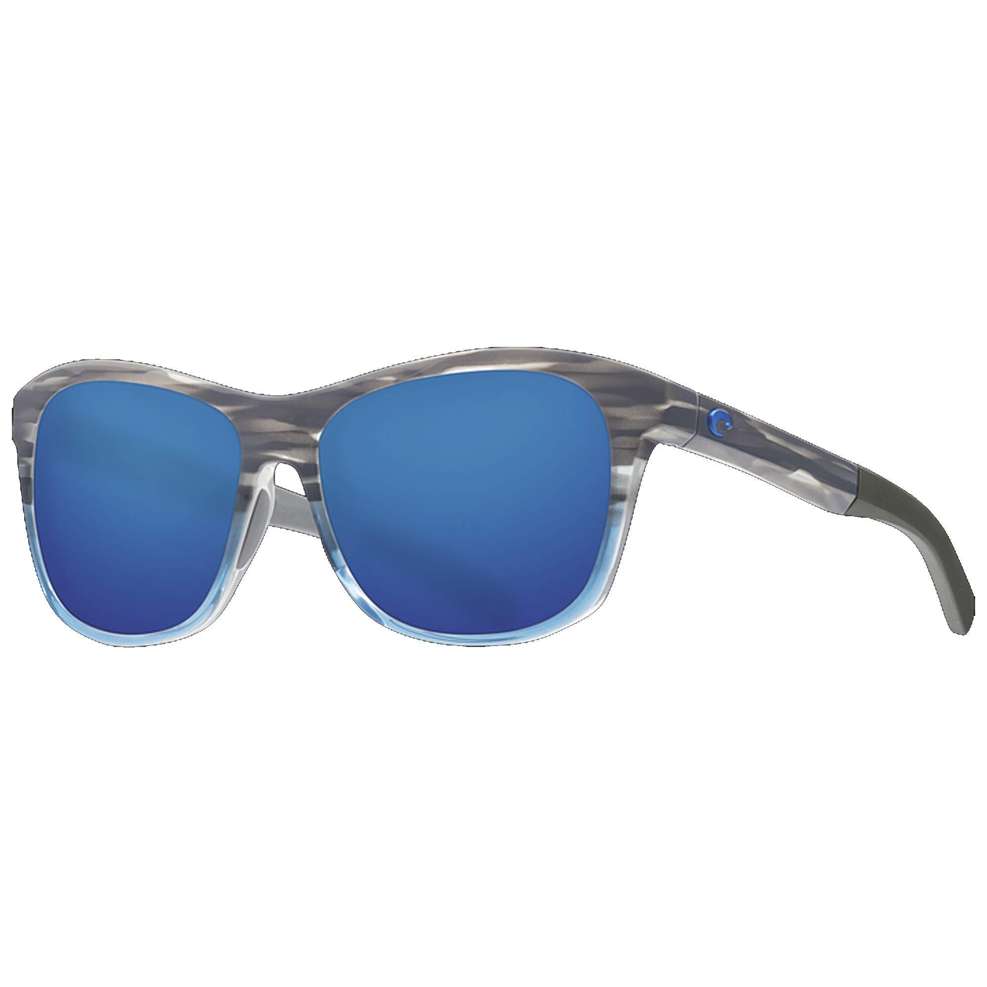 Costa Del Mar Ocearch Vela Sunglasses Shiny Coastal Fade/Blue Mirror 580Plastic by Costa Del Mar