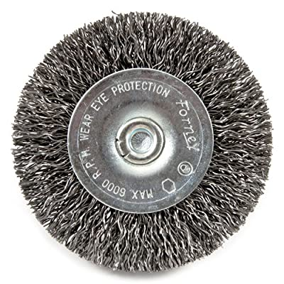 Forney 72733 Wire Wheel Brush, Coarse Crimped with 1/4-Inch Hex Shank, 2-1/2-Inch-by-.012-Inch, Sold as 5 Pack